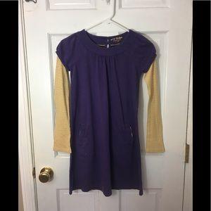 Mini Boden 11–12T Purple & Yellow Dress